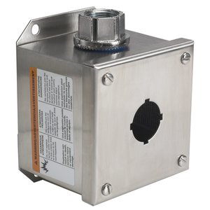 Square D 9001KYSS1 Enclosure, 30mm, 1-Hole, Stainless Steel, NEMA 1/3/4/4X/13