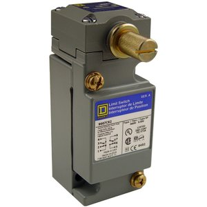 Square D 9007C66B2 Limit Switch, Side Rotary, 2NO/NC, Contacts, 10A, 600VAC