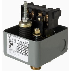 Square D 9013GHG1S8J54 Pressure Switch, Water or Air, 575VAC, 110-125PSI, 300 Max PSI