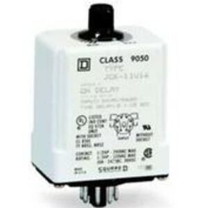 Square D 9050JCK15V20 Relay, Timer, 10A, 240VAC, 120VAC Coil, 8 Pin, 2PDT, On-Delay
