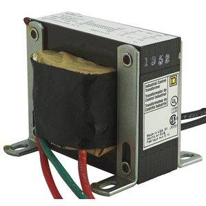 Square D 9070EL2D9 Transformer, Control, 100VA, 480-120VAC, Open, 1PH