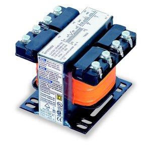 Square D 9070T50D3 Control Transformer, 50VA, 208 - 120, Type T, 1PH, Open