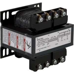 Square D 9070T75D2 Control Transformer, 75VA, 240/480 x 24, Type T, 1PH, Open