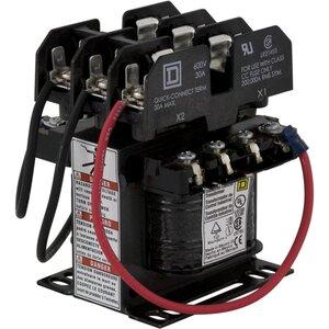 Square D 9070TF50D3 Control Transformer, 50VA, 120 x 240 -24208/277 - 120, Type TF, 1PH, Open