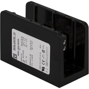Square D 9080LBA163206 Power Distribution Block, 1-Pole, 350A, 14 - 2/0 AWG