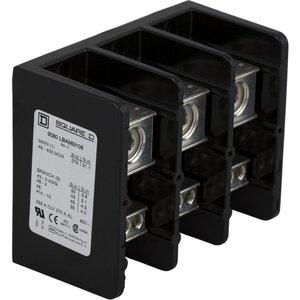 Square D 9080LBA365106 Power Distribution Block, 3-Pole, 380A, 14 AWG - 500 MCM