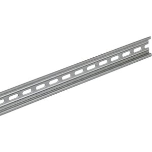 Square D 9080MH339 DIN Rail, Symmetrical, 35 mm x 7.5 mm x 1 m, Steel, Pre-Punched