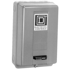 Square D 9991SCG8 Starter, Enclosure, Size 00, 0, 1, NEMA 1, 2-4P, w/External Reset