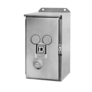 Square D 9991SEA11 Starter, Enclosure, Size 3, NEMA 12, 2-4P, w/External Reset
