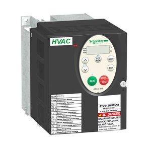 Square D ATV212HU15N4 AC Drive, Altivar, 3.7A, 2HP, IP20, Size 1A, 400/480VAC, 1.5kW