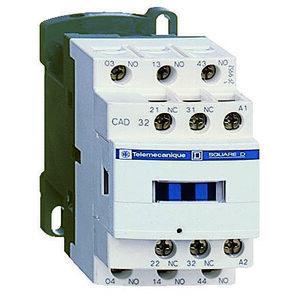 Square D CAD32BD Relay, Control, 5P, 3NO, 2NC, 24VDC Coil, 690VAC, Screw Clamps