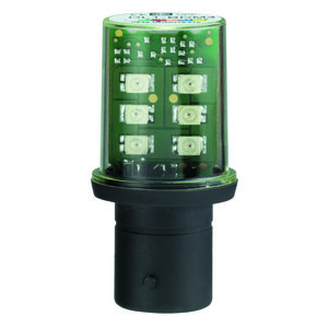 Square D DL1BDB4 Miniature LED Lamp, Indicator, 24V AC/DC, Red, Protected, Bayonet