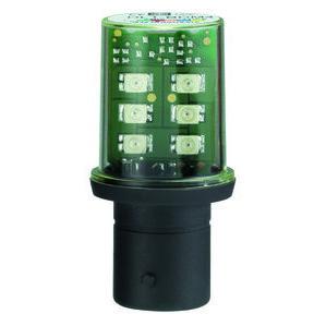 Square D DL1BDG3 Miniature LED Lamp, Indicator, 120VAC, Green, Protected, Bayonet