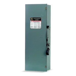Square D DTU362 Transfer Switch, Non-Fused, 60A, 600VAC, 600VDC, 3P, NEMA 1
