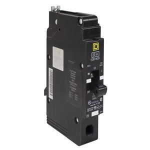 Square D EDB14040 Breaker, Bolt On, 1P, 40A, 277VAC, 18kAIC, Thermal Magnetic