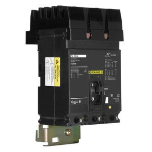 Square D FA34100 Breaker, Molded Case, 3P, 100A, 480VAC, F Frame