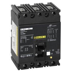 Square D FAL34020 Breaker, Molded Case, 3P, 20A, 480VAC, 250VDC, F Frame