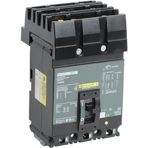 Square D FH36020 Breaker, Molded Case, 20A, 3P, 600VAC, 250VDC, F Frame, 18kAIC