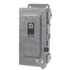 Square D H322NRB Disconnect Switch, Fusible, NEMA 3R, 60A, 3P, 240VAC, Neutral