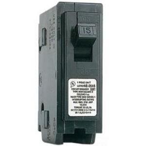 Square D HOM115 Breaker, 1P, 15A, 120/240VAC, 10 kAIC