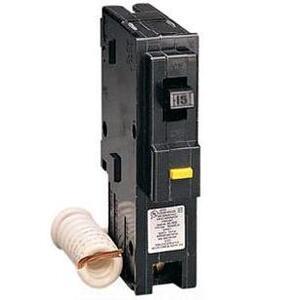 Square D HOM115GFI Breaker, GFCI, 1P, 15A, 120/240VAC, 10 kAIC