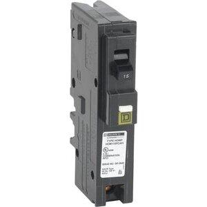 Square D HOM115PCAFI Breaker, Homeline, 15A, 120VAC, 1P, AFCI, Pressure Clamp