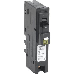 Square D HOM120PCAFI Breaker, Homeline, 20A, 120VAC, 1P, AFCI, Pressure Clamp