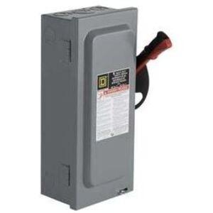 Square D HU361 Disconnect Switch, Non-Fusible, NEMA 1, 30A, 3P, 600VAC, Heavy Duty