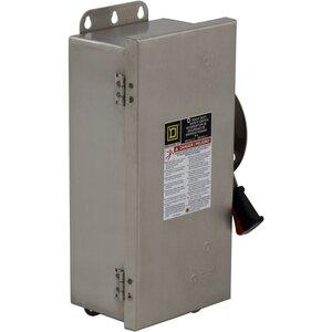 Square D HU661DS Disconnect Switch, Non-Fusible, 6P, 6 Wire, 30A, 600VAC, NEMA 4X