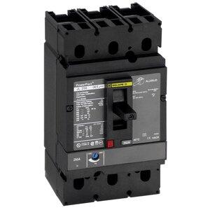 Square D JDL36200 Breaker, Molded Case, 200A, 600VAC, 14-25kAIC, 250VDC, 20kAIC, 3P