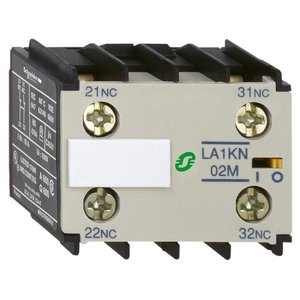Square D LA1KN20 Contactor, TeSys Type K, 2P, Auxiliary Contact Block, Screw Clamp