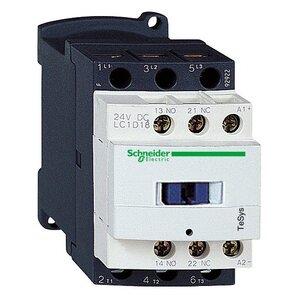 Square D LC1D18B7 Contactor, Definite Purpose, 18A, 3P, 600VAC, 300VDC, 24VAC Coil