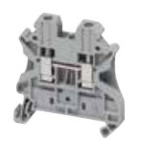 Square D NSYTRV42 Terminal Block, 6.2mm, Feed Through, Gray, Screw Type