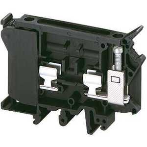 Square D NSYTRV42SF6 Terminal Block, Fused, 10.2mm, Black, G Fuse, 10A, 600VAC, Lever