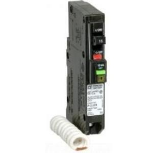 Square D QO115CAFI Breaker, Combination AFCI, 1P, 15A, 120VAC, 10kAIC
