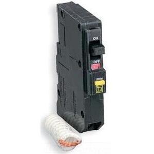 Square D QO115GFI Breaker, 1-Pole, 15 Amp, 120 VAC, GFCI, Type QO, 10kAIC