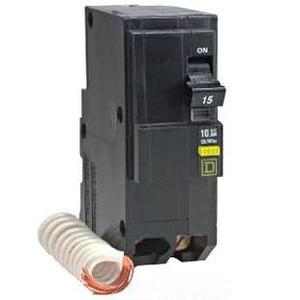 Square D QO220GFI Breaker, 2-Pole, 20 Amp, 120 VAC, GFCI, Type QO, 10kAIC