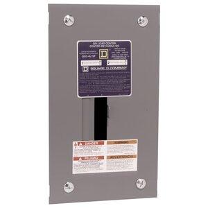 Square D QO24L70F Load Center, Main Lugs, 70A, 120/240VAC, 2/4, 1PH, NEMA 1, Flush