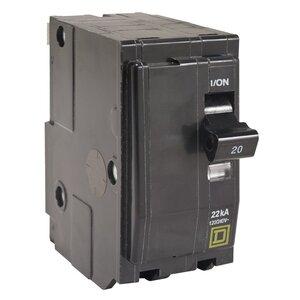 Square D QO260VH Breaker, QO Type, 60A, 2P, 120/240VAC, 22kAIC, Stab On
