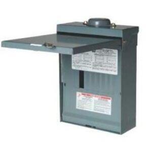 Square D QO816L100RB Load Center, Main Lug Only, 100A, 120/240VAC, 8/16, 1PH, NEMA 3R