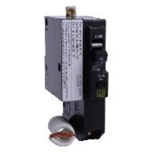 Square D QOB120EPD2103 Breaker, Bolt-On, 20A, 1P, 120/240VAC, QOB Type, 10 kAIC, EPB, Alarm