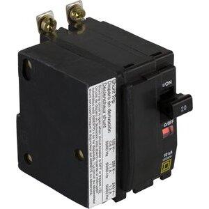 Square D QOB2201021 Breaker, Bolt-On, 20A, 2P, 120/240VAC, QOB Type, 10 kAIC, Shunt Trip