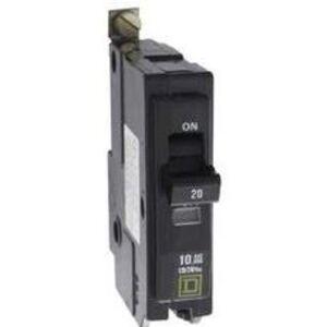 Square D QOB220GFI Breaker, Bolt-On, GFCI, 20A, 2P, 120/240VAC, QOB Type, 10 kAIC, 6mA