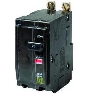 Square D QOB240 Breaker, Bolt-On, 40A, 2P, 120/240VAC, QOB Type, 10 kAIC