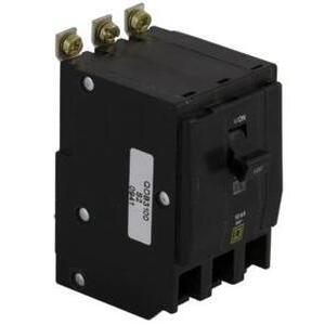 Square D QOB380 Breaker, Bolt-On, 80A, 3P, 120/240VAC, QOB Type, 10 kAIC