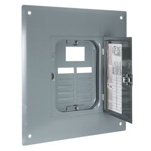 Square D QOC12UF Load Center Cover with Door, Indoor, Flush Mount