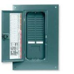 Square D QOC24UF Load Center, Cover with Door, NEMA 1, Flush Mount, 16/24 Circuit
