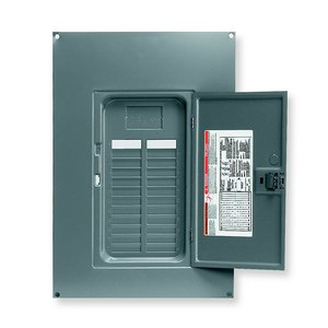 Square D QOC24US Load Center, Cover with Door, NEMA 1, Surface Mount, 16/24 Circuit