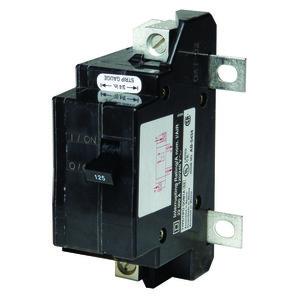 Square D QOM125VH Breaker, Main, 125A, 2P, 120/240VAC, 22kAIC, Type QOM1