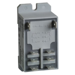 Square D RPF2BF7 Relay, Plug In, Power, 30A, 2P, NC, 24VAC Coil, DIN Rail Mount